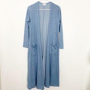 LuLaRoe Sarah Duster Cardigan Blue S #2800